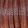 10mm flat CRYSTAL leather WHISKEY - per 1 meter