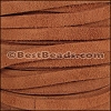 5mm flat SUEDE leather MEDIUM BROWN - per 5 meters