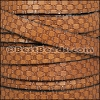 10mm flat BASKETWEAVE leather TAN - per meter