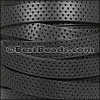 10mm flat PERFORATED leather BLACK - per 10m SPOOL