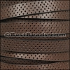 10mm flat PERFORATED leather BROWN - per 10m SPOOL