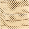 10mm flat PERFORATED leather NATURAL- per 10m SPOOL
