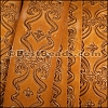 30mm flat ENGRAVED leather NATURAL - per meter