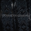 30mm flat ENGRAVED leather NAVY - per meter