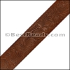 40mm flat ENGRAVED leather SADDLE - per meter