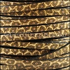 5mm flat EURO PRINTED leather ANIMAL COLLAGE - per 5 meters