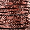 5mm flat EURO PRINTED leather BROWN SNAKE - per 20m SPOOL