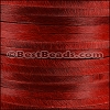 5mm flat HAIR ON leather RED- per 1 meter