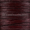 5mm flat HAIR ON leather BURGUNDY - per 1 meter