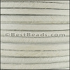 5mm flat HAIR ON leather OFF WHITE- per 1 meter