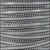 10mm flat BALL CHAIN leather LIGHT GREY - per 1 meter