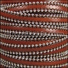 10mm flat BALL CHAIN leather BROWN - per 1 meter