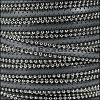 10mm flat BALL CHAIN leather DARK GREY - per 1 meter