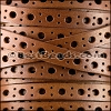 8mm flat DELUX PUNCHED leather TAN- per meter