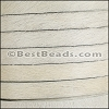 10mm flat HAIR ON leather OFF-WHITE - per 1 meter