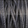 5mm flat VINTAGE leather MIDNIGHT - per 5 meters