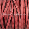 5mm flat VINTAGE leather RED - per 20M spool