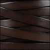 10mm flat leather CHOCOLATE BROWN - per 20m SPOOL