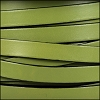 10mm flat leather OLIVE GREEN - per 2 meters