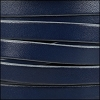 10mm flat leather ROYAL BLUE with GREY - per 2 meters