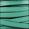 10mm flat leather PASTEL EMERALD GREEN - per 2 meters