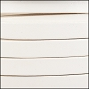 10mm flat leather WHITE - per 2 meters