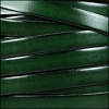 10mm flat leather DARK GREEN - per 2 meters