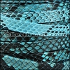 10mm flat PYTHON leather TURQUOISE- per 10m SPOOL
