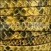 10mm flat PYTHON leather YELLOW - per 1 meter