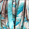 10mm flat MULTI COLOR leather TURQUOISE BRONZE - per 2 meters