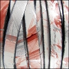 10mm flat MULTI COLOR leather CORAL SILVER - per 2 meters