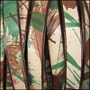 10mm flat MULTI COLOR leather CAMOUFLAGE - per 2 meters