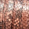 10mm flat PYTHON leather SALMON - per 1 meter