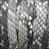 10mm flat PYTHON leather NATURAL GREY - per 1 meter