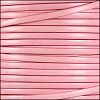 5mm flat ITALIAN DOLCE leather CARNATION - per 5 meters