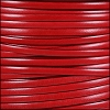 5mm flat ITALIAN DOLCE leather TOMATO - per 5 meters