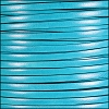 5mm flat ITALIAN DOLCE leather TURQUOISE PUYA - per 5 meters