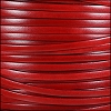 5mm flat ITALIAN DOLCE leather STRAWBERRY - per 5 meters