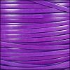 5mm flat ITALIAN DOLCE leather VIOLET - per 5 meters