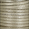 5mm flat GRECO leather GOLD - per 5 meters