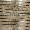 5mm flat GRECO leather LT BRONZE - per 5 meters