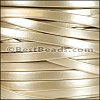 5mm flat MATTE PEARL leather GOLD - per 5 meters