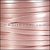 5mm flat MATTE PEARL leather PINK - per 5 meters