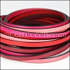 5mm Flat Leather Mixed Bundle SUMMER SUNSET - 5 meters