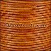 1.5mm round Indian leather - natural med. brown - per 25m SPOOL