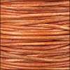 3mm round Indian leather - orange - per 25m SPOOL