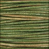 3mm round Indian leather - dark green - per 25m SPOOL