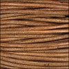 3mm round Indian leather - lt brown - per 25m SPOOL