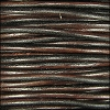 3mm round Indian leather - dark brown - per 25m SPOOL