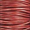 1.5mm round Indian leather - METALLIC russet - per 25m SPOOL